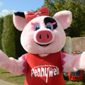 Pippa the mascot from pennywell farm