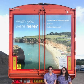 Ladram Bay Lorry Rolls Out